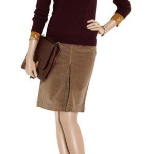 MOTHER The Inverted Plead Velvet Skirt